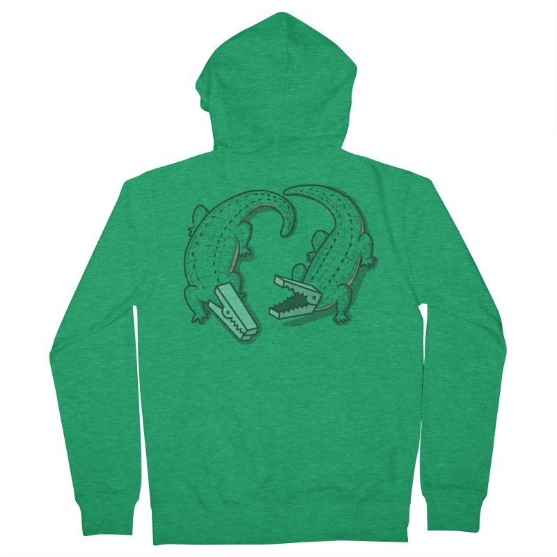 Alligator Clips Men's Zip-Up Hoody by YNC