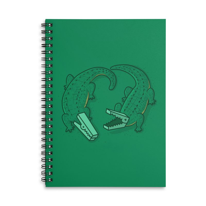 Alligator Clips Accessories Lined Spiral Notebook by YNC