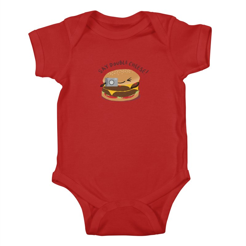 Say Cheeseburger Kids Baby Bodysuit by YNC