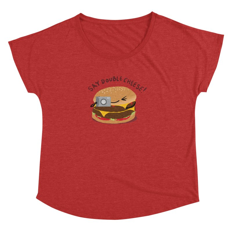 Say Cheeseburger Women's Dolman by YNC
