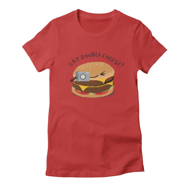 Say Cheeseburger Women's Fitted T-Shirt by YNC