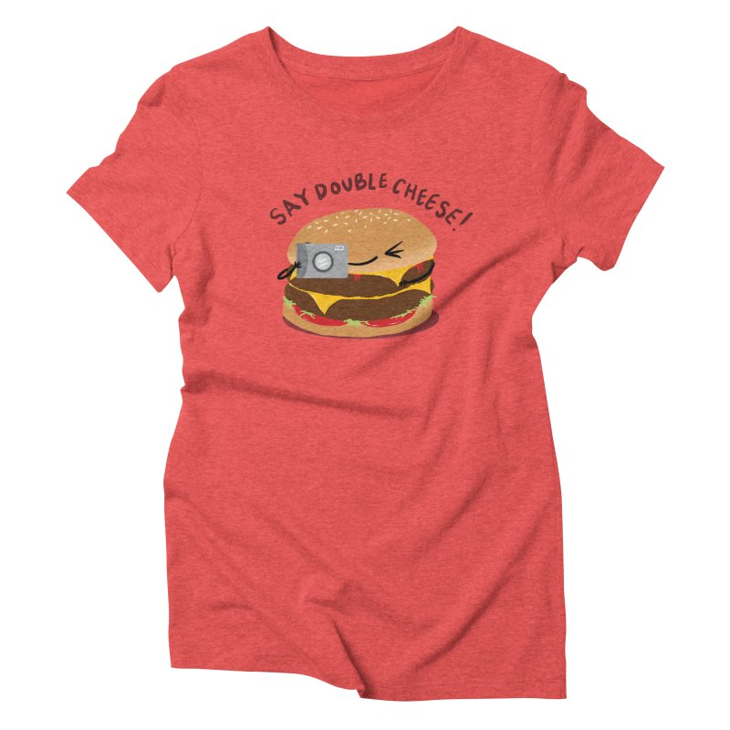 Say Cheeseburger Women's Triblend T-shirt by YNC