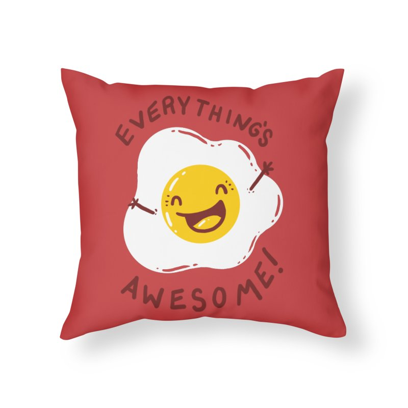 Sunny Side Home Throw Pillow by YNC