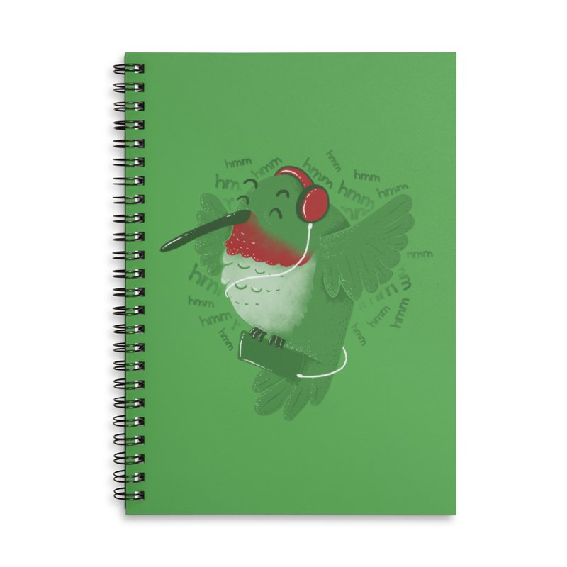 Humming Bird Accessories Lined Spiral Notebook by YNC