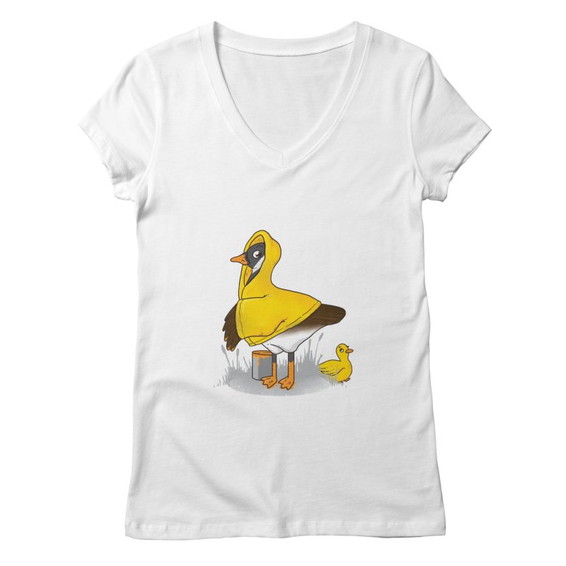 Duck! Duck? ... Goose? Women's V-Neck by YNC
