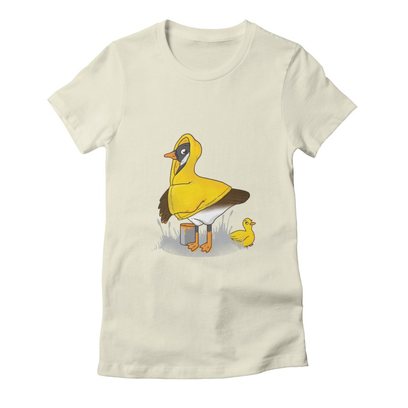 Duck! Duck? ... Goose? Women's Fitted T-Shirt by YNC