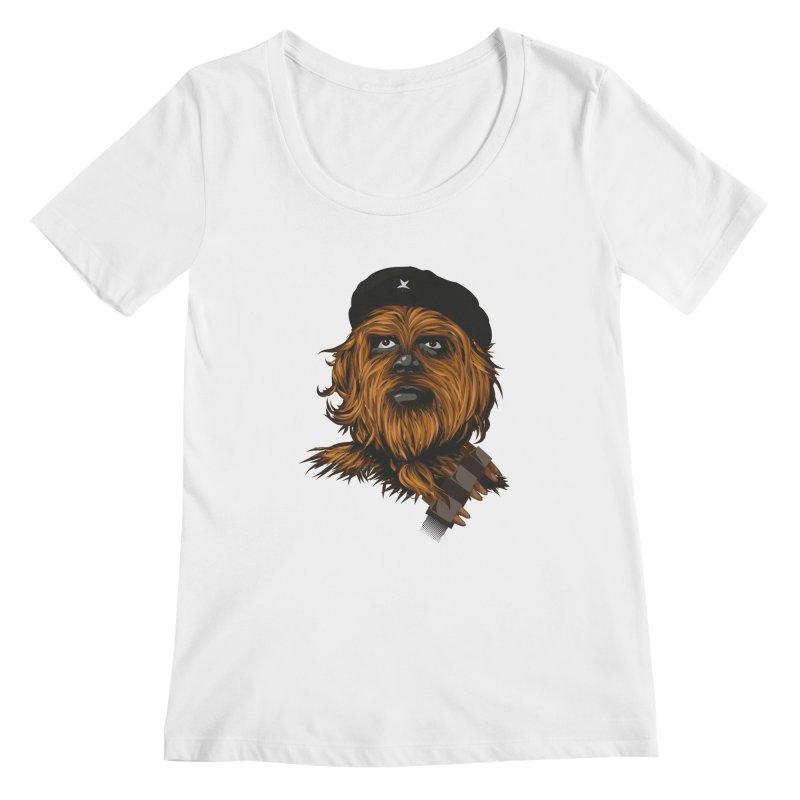 Chewie Guevara Women's Scoopneck by yobann's Artist Shop