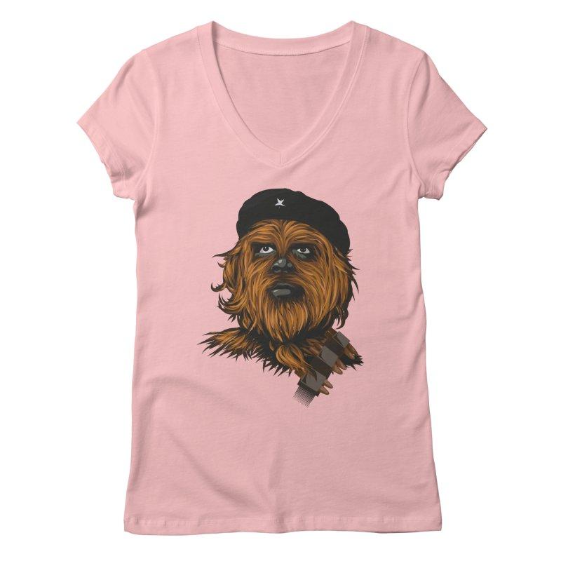 Chewie Guevara Women's V-Neck by yobann's Artist Shop