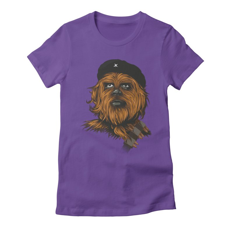 Chewie Guevara Women's Fitted T-Shirt by yobann's Artist Shop