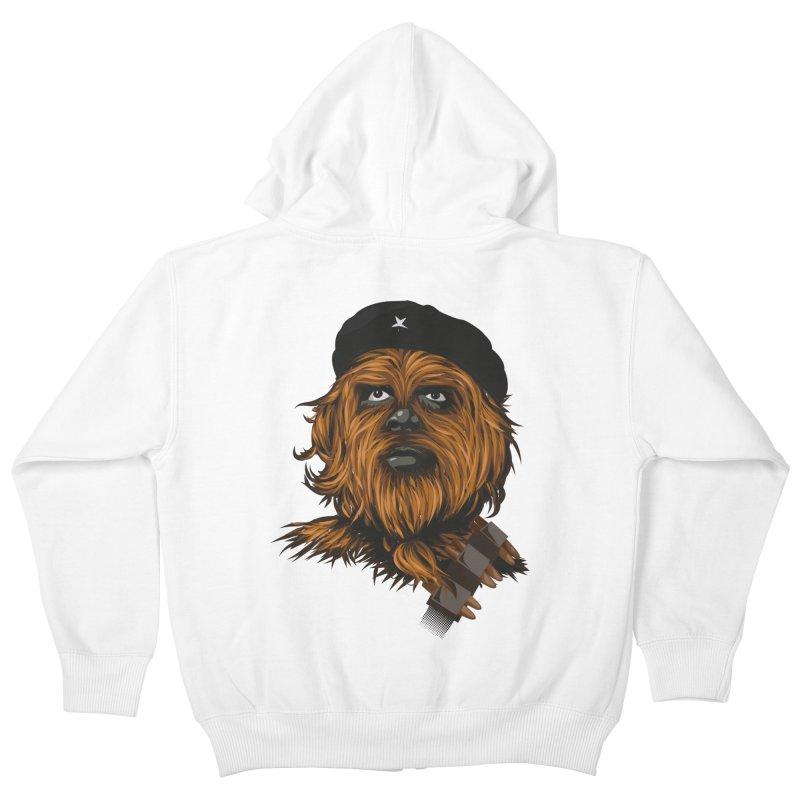 Chewie Guevara Kids Zip-Up Hoody by yobann's Artist Shop