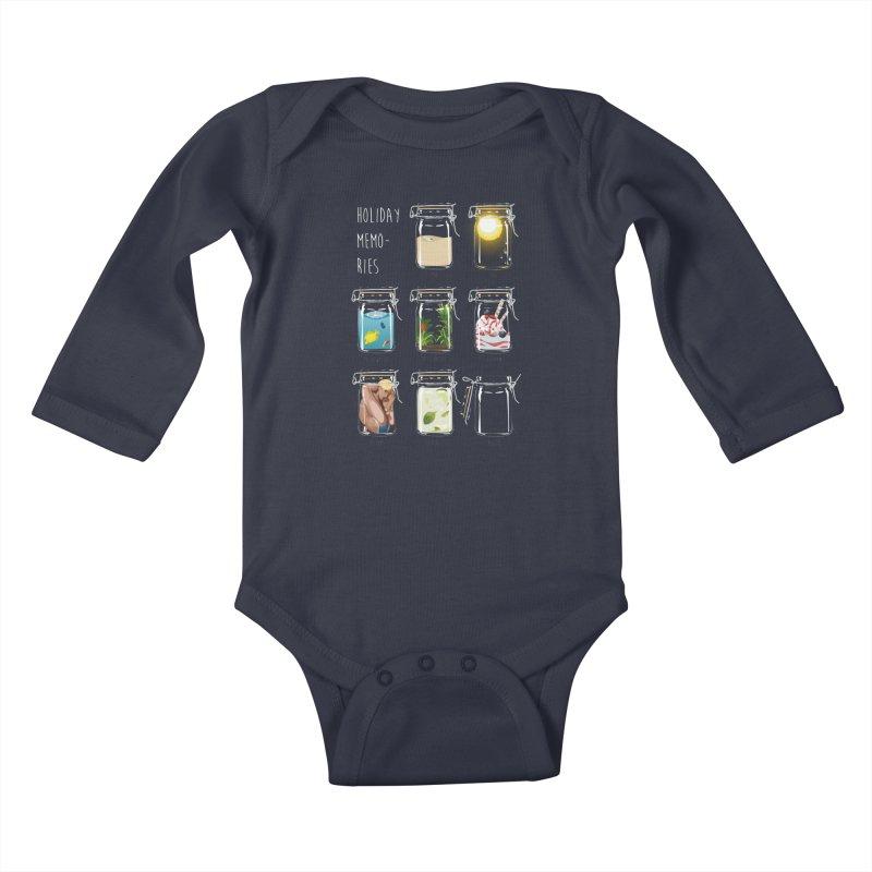 Holiday memories Kids Baby Longsleeve Bodysuit by yobann's Artist Shop