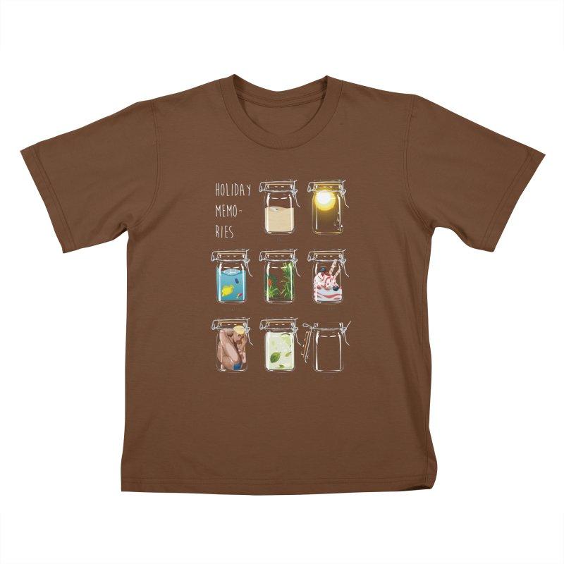 Holiday memories Kids T-Shirt by yobann's Artist Shop