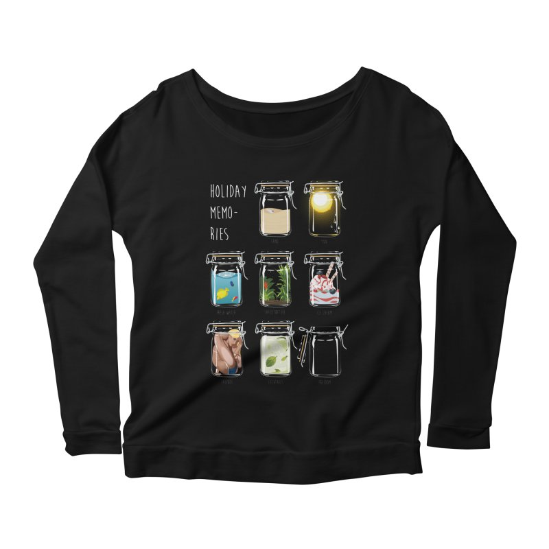 Holiday memories Women's Longsleeve Scoopneck  by yobann's Artist Shop