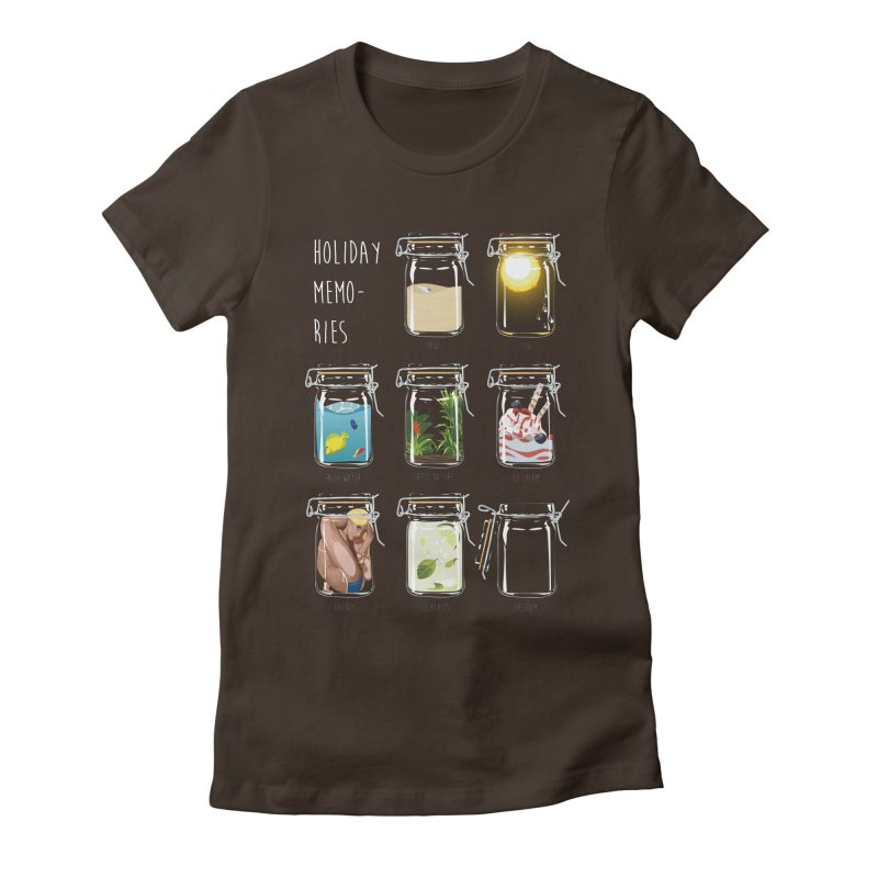 Holiday memories Women's Fitted T-Shirt by yobann's Artist Shop