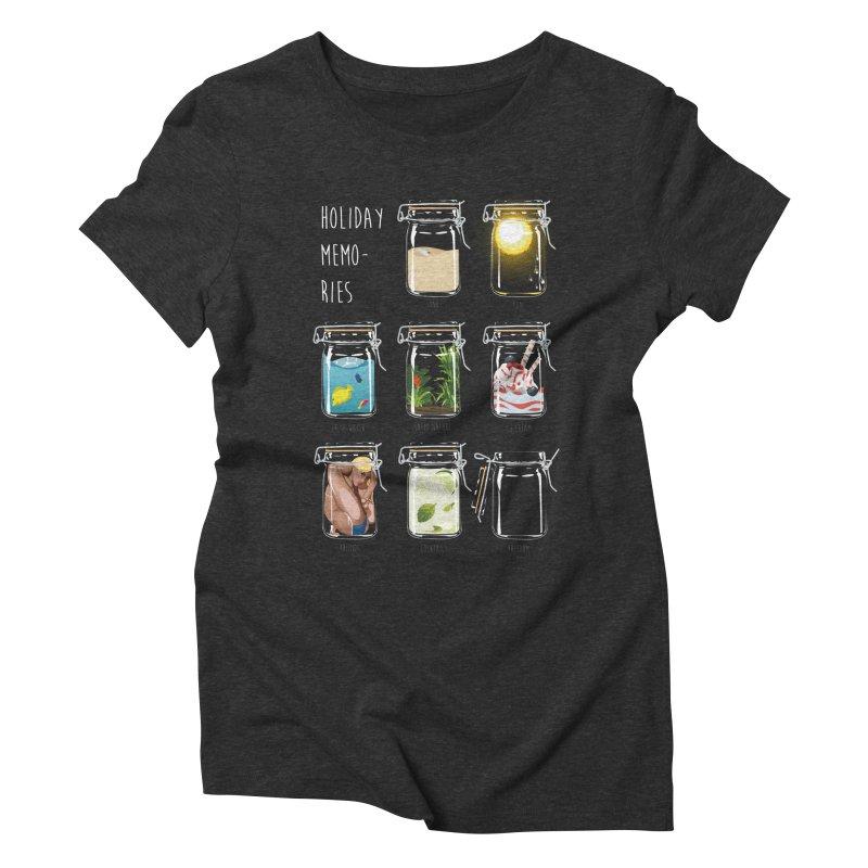 Holiday memories Women's Triblend T-Shirt by yobann's Artist Shop