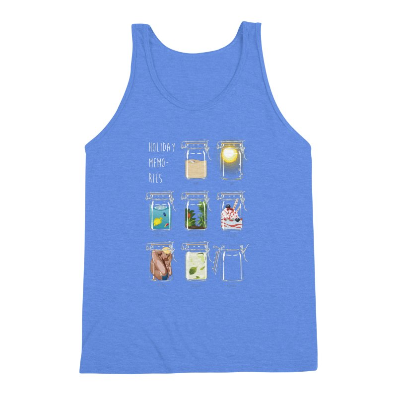 Holiday memories Men's Triblend Tank by yobann's Artist Shop