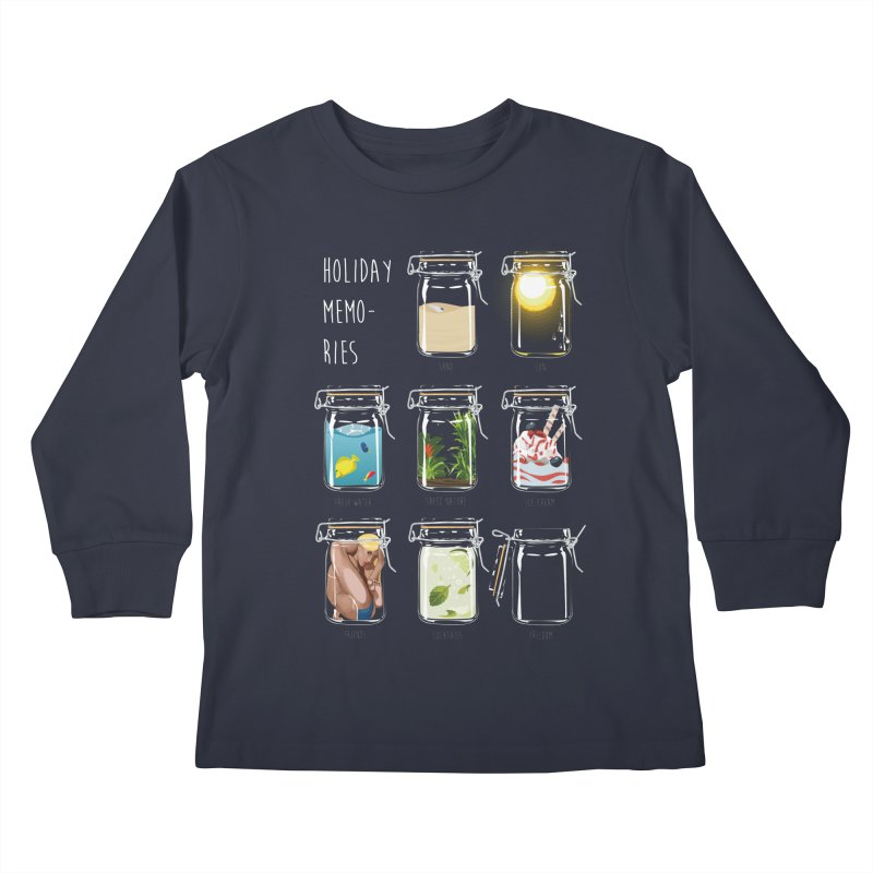 Holiday memories Kids Longsleeve T-Shirt by yobann's Artist Shop