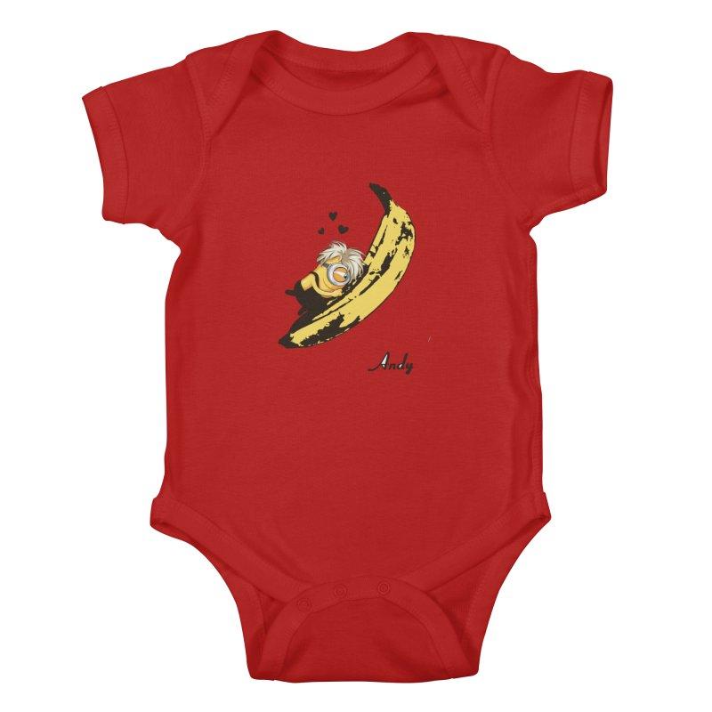 Andy Kids Baby Bodysuit by yobann's Artist Shop