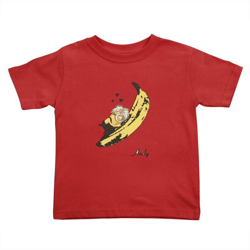 Andy Kids Toddler T-Shirt by yobann's Artist Shop