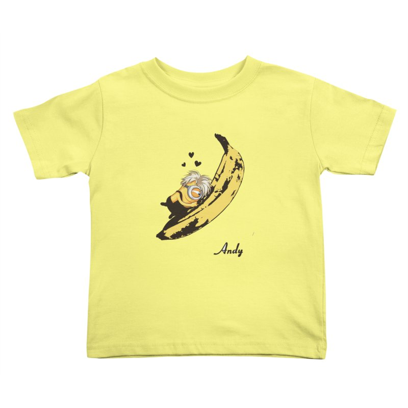 Andy Kids Toddler T-Shirt by yobann's Artist Shop