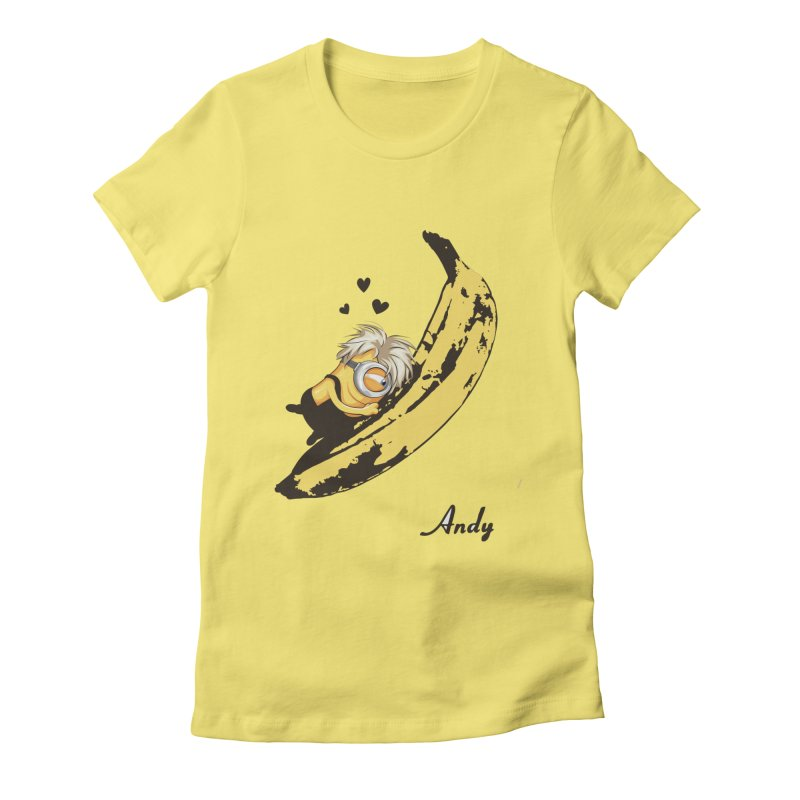 Andy Women's Fitted T-Shirt by yobann's Artist Shop