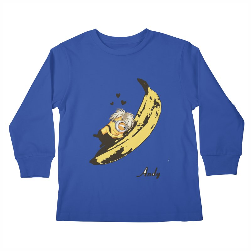 Andy Kids Longsleeve T-Shirt by yobann's Artist Shop