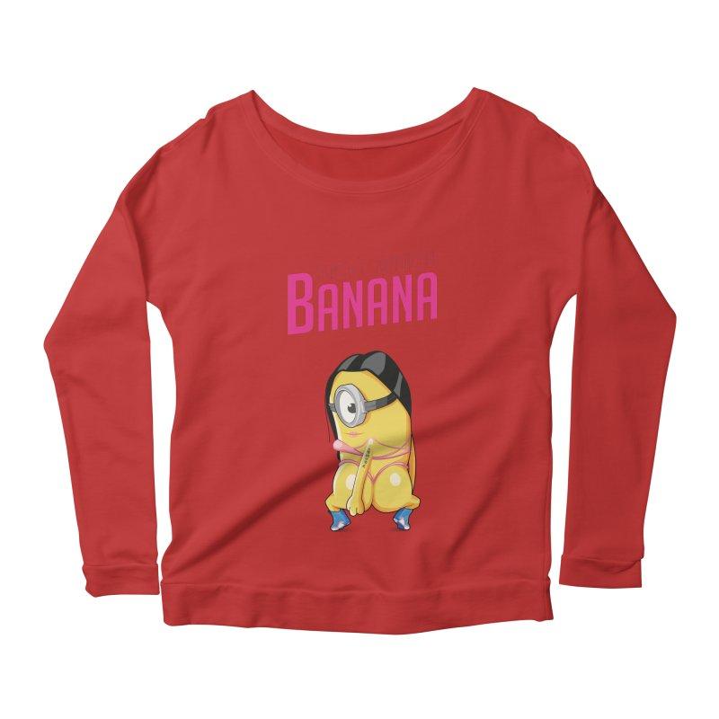 Banana Women's Longsleeve Scoopneck  by yobann's Artist Shop