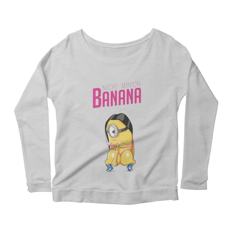 Banana Women's Longsleeve Scoopneck  by yobann's Artist Shop