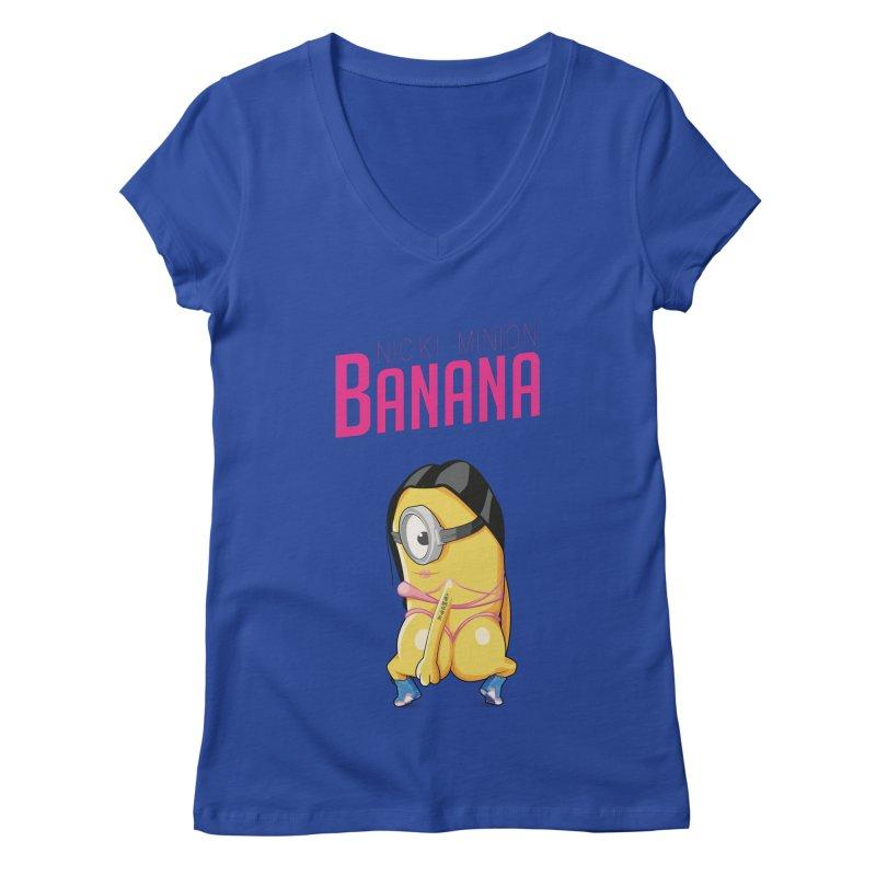 Banana Women's V-Neck by yobann's Artist Shop
