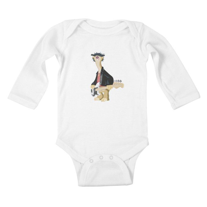 Sid. Kids Baby Longsleeve Bodysuit by yobann's Artist Shop