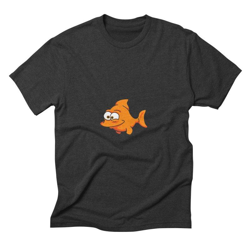 Goldfish Men's Triblend T-shirt by yobann's Artist Shop