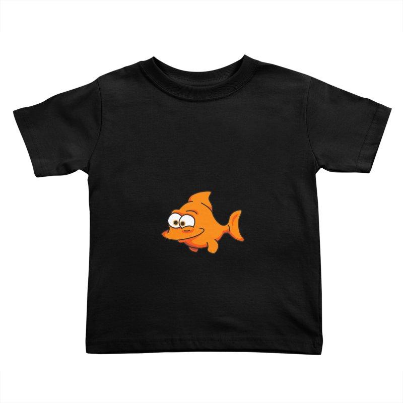Goldfish Kids Toddler T-Shirt by yobann's Artist Shop