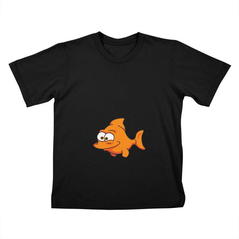 Goldfish Kids T-Shirt by yobann's Artist Shop
