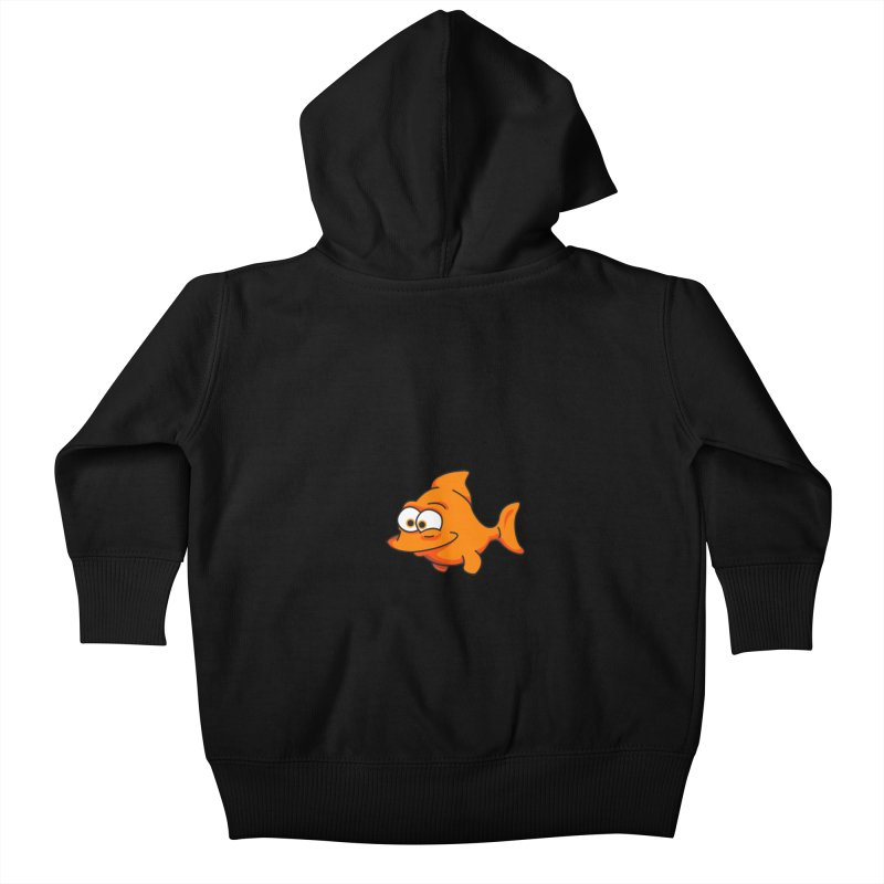 Goldfish Kids Baby Zip-Up Hoody by yobann's Artist Shop
