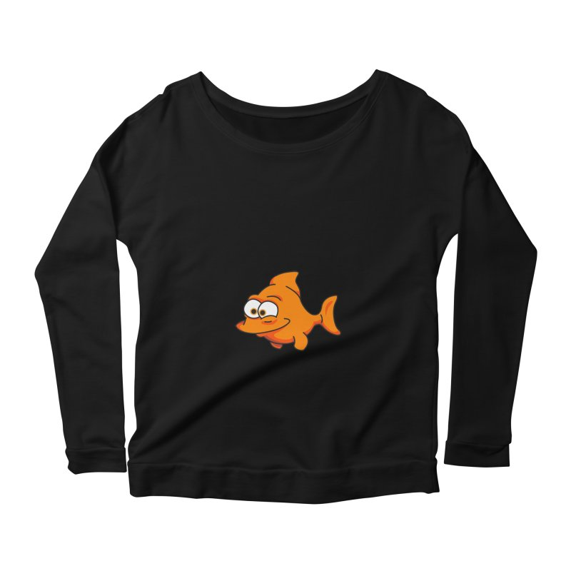 Goldfish Women's Longsleeve Scoopneck  by yobann's Artist Shop