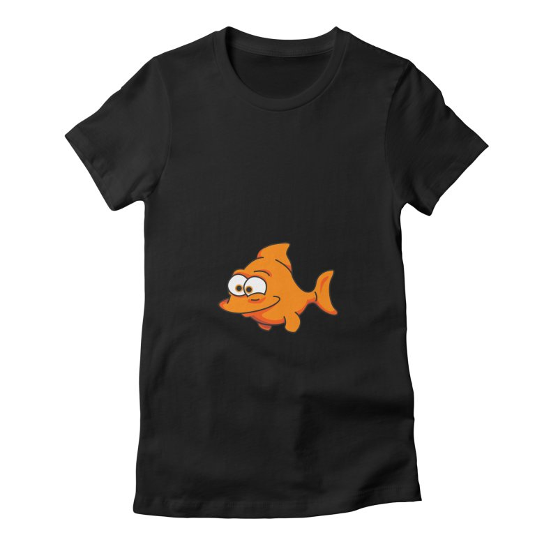 Goldfish Women's Fitted T-Shirt by yobann's Artist Shop