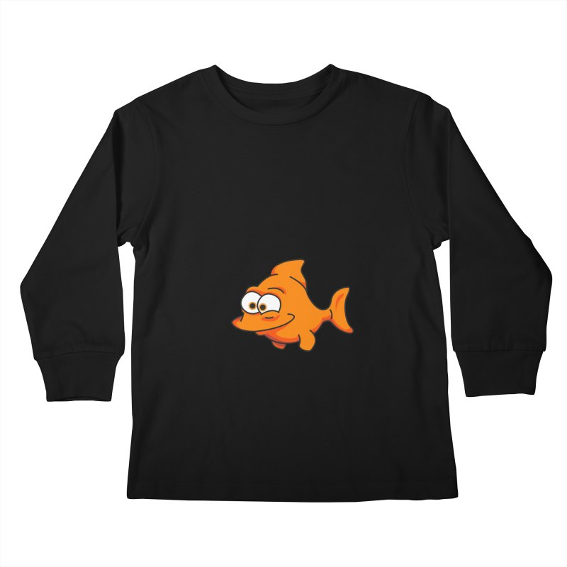 Goldfish Kids Longsleeve T-Shirt by yobann's Artist Shop