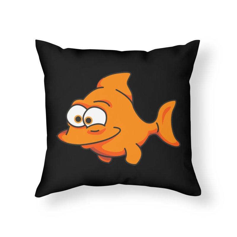 Goldfish Home Throw Pillow by yobann's Artist Shop