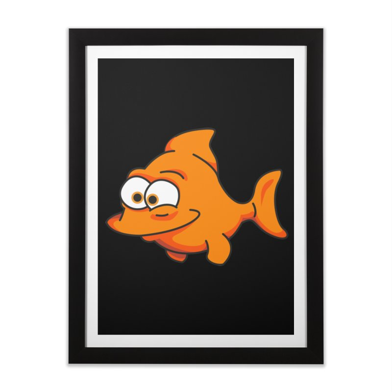 Goldfish Home Framed Fine Art Print by yobann's Artist Shop