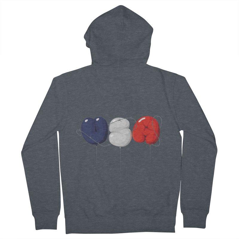 USA Men's Zip-Up Hoody by yobann's Artist Shop
