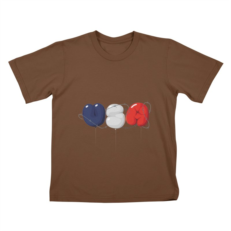 USA Kids T-shirt by yobann's Artist Shop