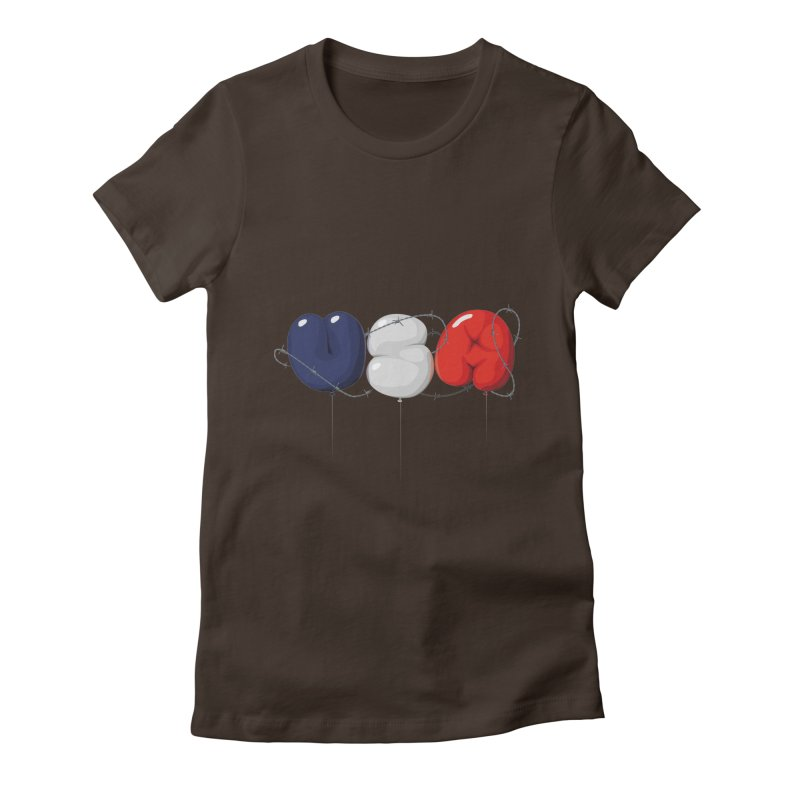 USA Women's Fitted T-Shirt by yobann's Artist Shop