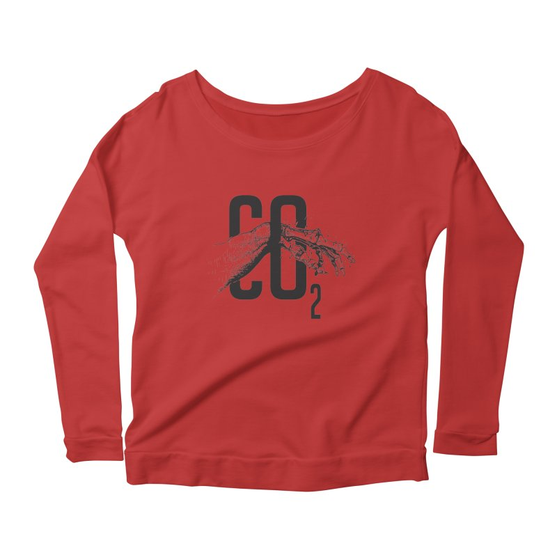 CO2 Women's Longsleeve Scoopneck  by yobann's Artist Shop
