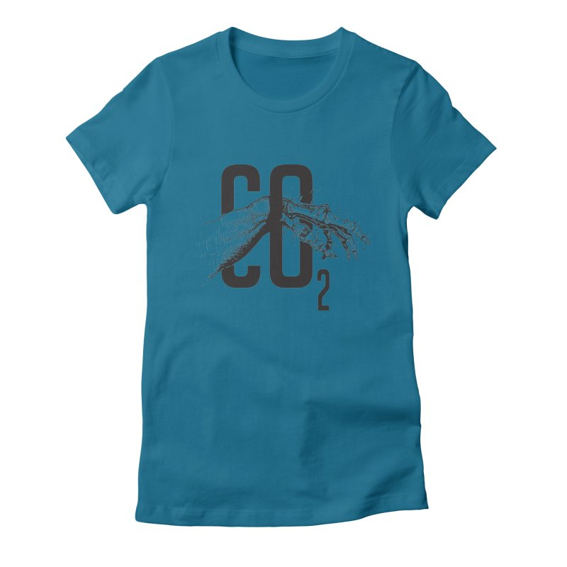 CO2 Women's Fitted T-Shirt by yobann's Artist Shop