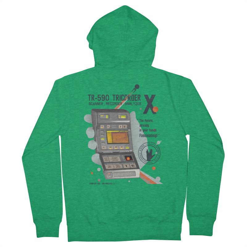 Tricorder Men's Zip-Up Hoody by yobann's Artist Shop