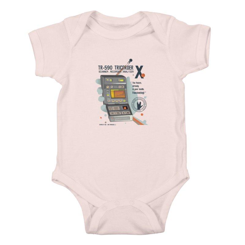Tricorder Kids Baby Bodysuit by yobann's Artist Shop