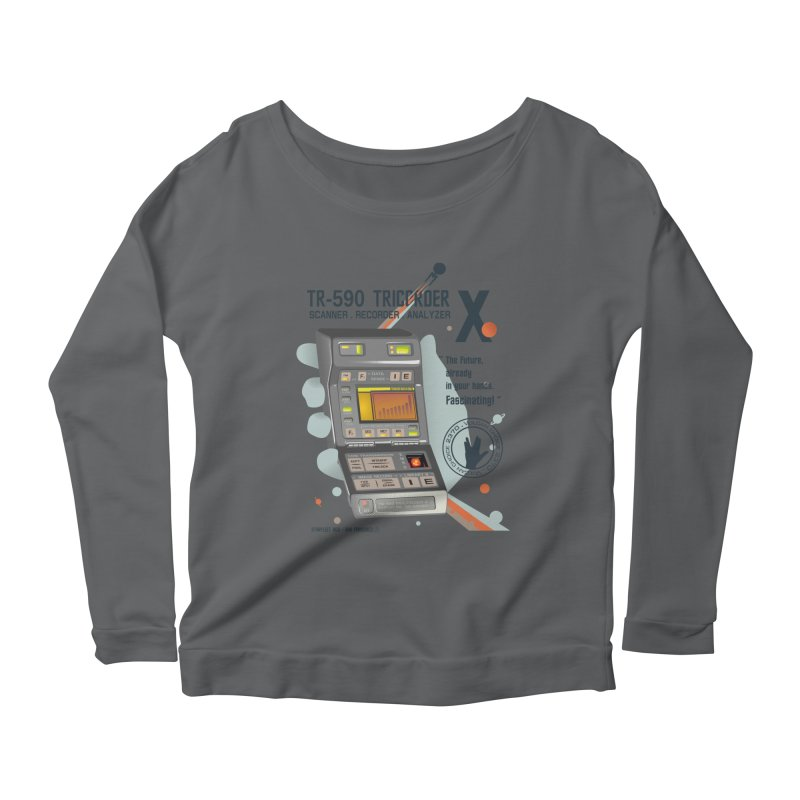 Tricorder Women's Longsleeve Scoopneck  by yobann's Artist Shop