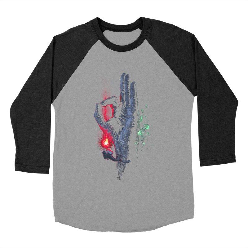 Underwater Women's Baseball Triblend T-Shirt by yobann's Artist Shop