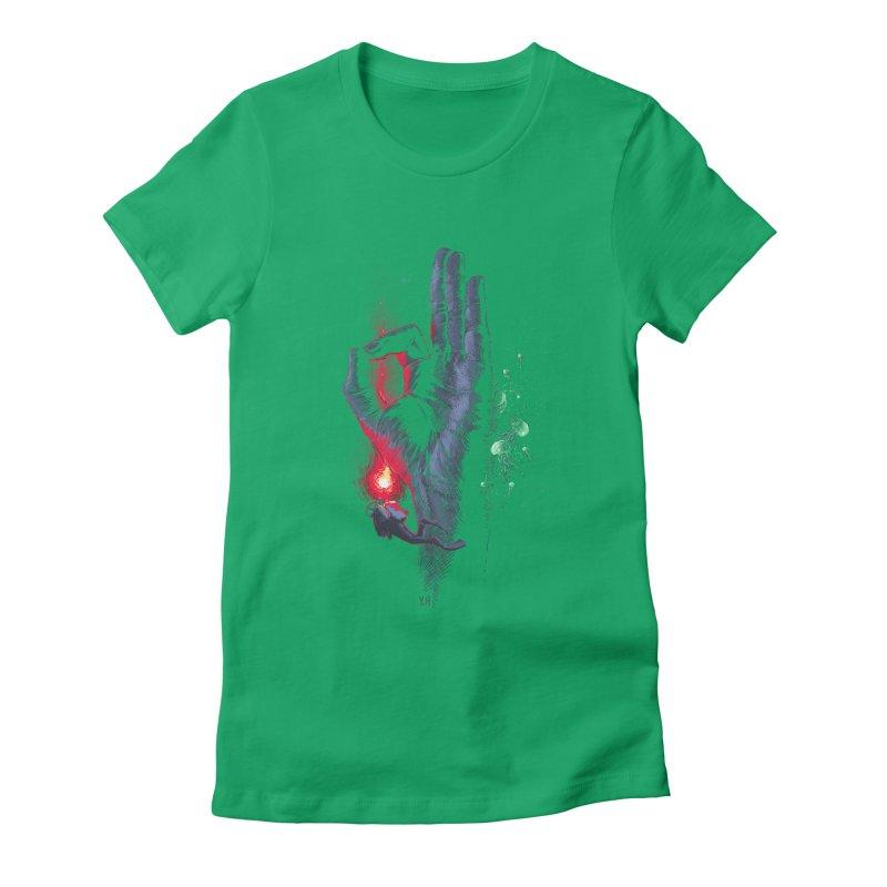 Underwater Women's Fitted T-Shirt by yobann's Artist Shop
