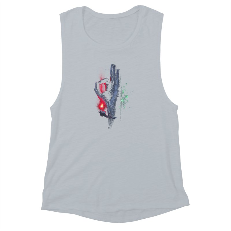Underwater Women's Muscle Tank by yobann's Artist Shop